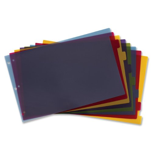 Cardinal 11x17 Inch Poly Dividers, 8-Tab, Multi-Color, (84251)
