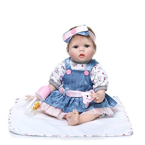 Nicery Reborn Doll Bambina Bambino Morbide Vinile in Silicone Corpo in Tessuto per Ragazzi e Ragazze Compleanno Regali Natalizi 50-55 cm Bambole Reborn gx55-55it