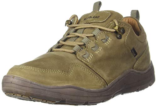 Woodland Mens Casuals Laceup Leather GC 2575117D Khaki 41, 7 UK (41 EU)