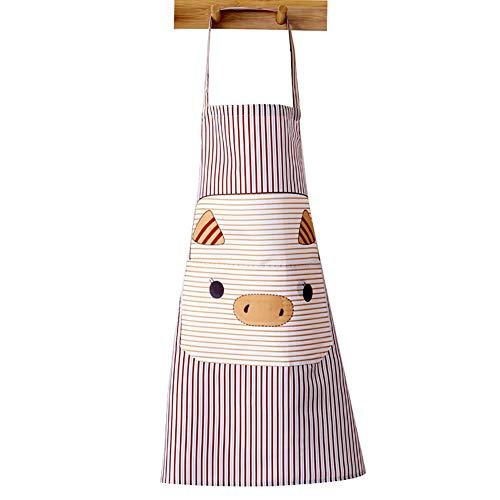 Yosemite Cute Pig sans manches Tablier avec poches pour cuisiner cuisson Nettoyage jardinage tabliers de vêtements de protection café