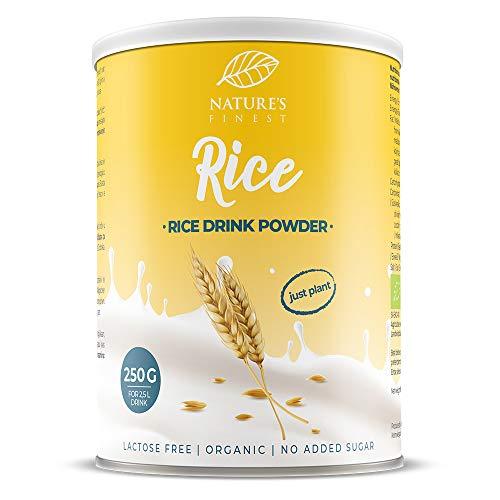 Nature's Finest Boisson Riz Bio en poudre 250g | Produit 2,5 l de Lait Vegétal Bio Délicieux | Convient aux Vegans et Végétariens