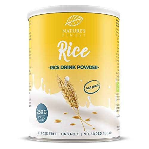 Nature's Finest Bevanda di Riso in Polvere Bio 250 g | 2,5 litri di Deliziosa Bevanda Vegetale Biologica | Ideale per Vegani e Vegetariani
