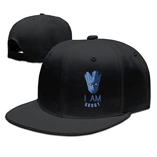 Facsea Runy Custom Grizzlies & Groot Adjustable Baseball Hat & Cap Black