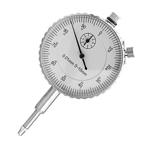 HENTEK Indicador de marcación métrica 0-10 mm Comparador de precisión mecánica (plata)