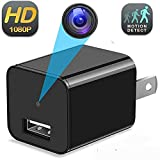 Hidden Camera Charger - Motion Detection Hidden Cam - USB Spy Camera Wall Charger - Mini Spy Camera - 1080P Full HD Nanny Cameras Video Only