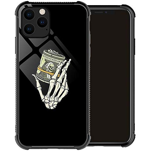 Compatible with iPhone 12 Pro Max Case,Skull Hand Holding Money iPhone 12 Pro Max Cases for Men Boy,Drop Protection Cool Pattern with Soft TPU Bumper Case for Apple iPhone 12 Pro Max Case 6.7-inch