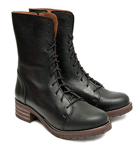Brako Stiefel Boots schwarz 8470 Planet Negro Military Leder (Numeric_39)
