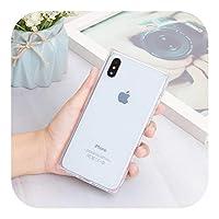 Ddkfj iPhone用の豪華な正方形の透明なTPU保護ケース1112 Mini ProMaxソフトシリコングリッター電話ケース用iPhoneX XS Max XR 6 6S 7 8 Plus-TPU-For iPhone 8Plus
