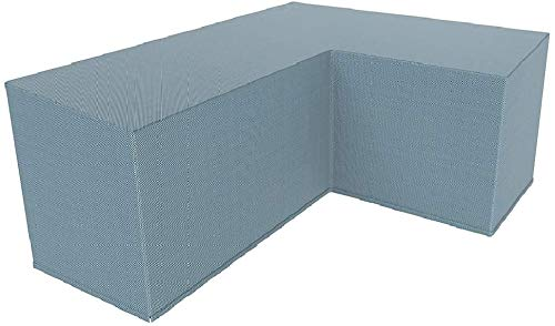 You's Auto Juego de Forma de L de Funda Protectora para El SofÁ De La Esquina Muebles para Mesa De Jardin Exterior Impermeable Anti-UV (Gris 270x270x90cm)