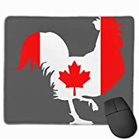 カナダの国旗とオンドリ マウスパッド 25×30 大判 ノンスリップ 防水 ゲーミング おしゃれ マウスの精密度を上がる