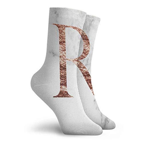 NGMADOIAN Sokken Monogram Pink Marmer R Painting Svetlana Novikova Athletic Long Crew Socks for Men Vrouwen 11.8 inch (30 cm)