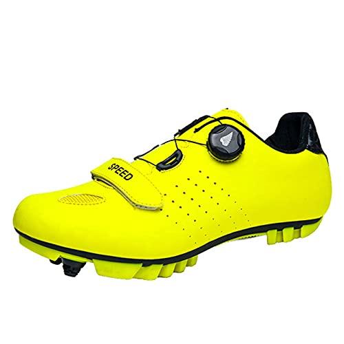 ZQW Antideslizante Zapatillas Ciclismo, Respirable Fibra Carbon Calzado Bicicleta Carretera Y Montaña, Zapatos Peloton SPD Compatibles para Delta Cleats Clip para Bloquear Peda