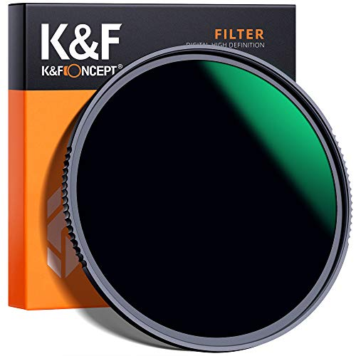 K&F Concept 58mm ND1000 Filter 10 Stops ND, Solid Neutral Density Lens Filter Multi-Coated Optical...