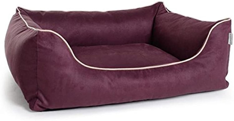 Cani letto, cani divano worldcollection Camoscio Velour in viola, 5taglie, impermeabile, resistente tuttio sporco, ortopedico, Memory Foam