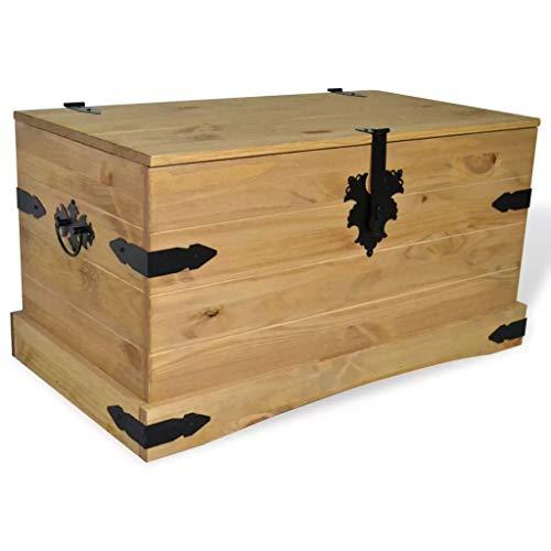 FTFTO Accesorios de decoración Cofre de Almacenamiento marrón Cofre de Almacenamiento de Madera Mesa Adicional 91 x 49,5 x 47 cm