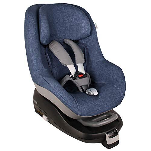 Maxi-Cosi Pearl Bezug Kindersitz von UKJE Auch für 2Way Pearl und Pearl Pro Blau Jeans Schweißabsorbierend und weich für Ihr Kind Öko-Tex 100 Baumwolle Recycelbar