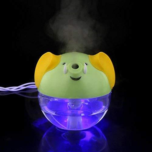 Allamp 3 Colores USB Mini diseño de Elefantes humidificador Difusor Purificador de Aire - Verde