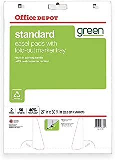 White 3M MMM559RP Easel Pad Recycled 25 in x 30 in 30shts//pd