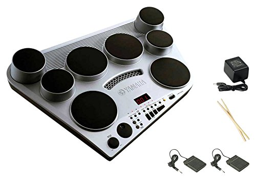 Yamaha DD65 Electronic Drum Pad Premium Package with Headphones, Power Supply, Drum Sticks, and 2 Foot Pedals