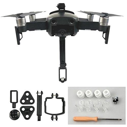 Flycoo Staffa di montaggio per fotocamera Action Camera 360 Fissaggio adattatore per fotocamera per DJI Mavic Air Drone Kit di accessori drone Shockproof base antishock