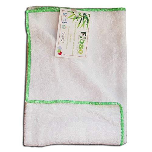 Drap de bain bambou (blanc) - ultra absorbant et compact - FIBAO