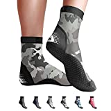 BPS 'Second Skin' Sport Skin Socks - Quick-Dry and Anti-Slip Socks - for Wet Suit, Sand Playing, Tide Pooling, Scuba Diving, Wading, Fishing - High Cut Socks (Grey Camouflage, Medium)