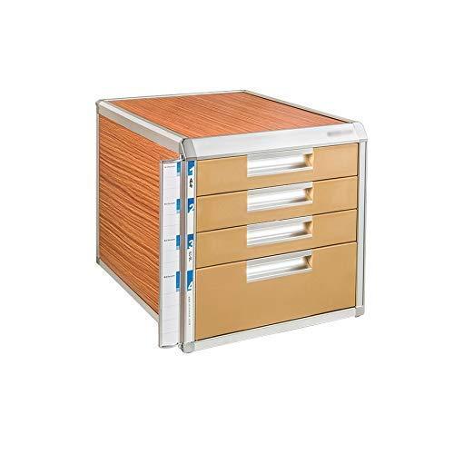 LHQ-HQ 5 Schichten Desk Speicher Expander, Aluminiumlegierung Desktop-Schublade Sorter Speicherschrank Datei-Box Office Supplies Tragbare und ordentlich Zeitung Racks (Größe: 4-Schichten) Zeitungsstän