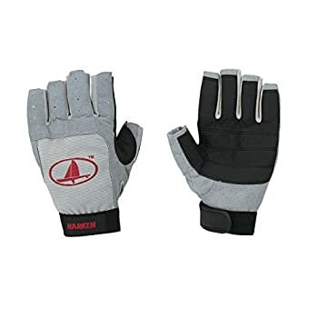 Harken Sport Classic 3/4 Finger Glove Grey/Black/Red Large