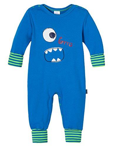 Schiesser Baby - Jungen Zweiteiliger Schlafanzug 146221, Gr. 56, Blau (Blau 800)