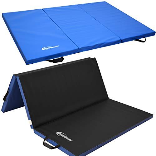 EYEPOWER 180x120 XXL Turnmatte für Zuhause - Klappbar - 5cm Gymnastikmatte - Kinder Weichbodenmatte