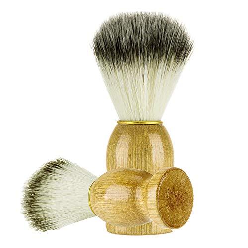 Brosse de rasage pour homme Outils de coiffeur avec manche en bois