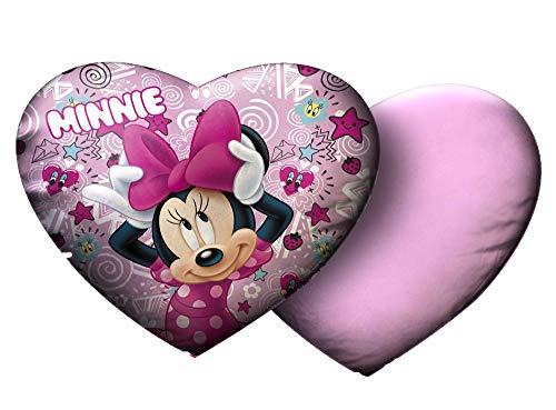 Star Disney Minnie stampato velluto cuscino cuore, dimensioni 35 x 30 cm
