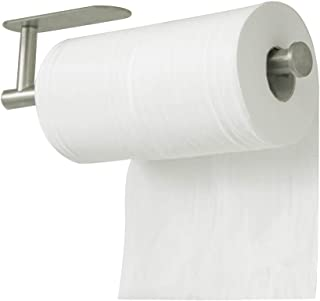 VPACC Paper Towel Holder Under Cabinet Mount, Self Adhesive Paper Towel Holder, Stainless Steel Undermount Paper Towel Rack