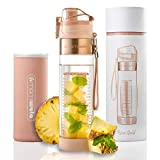 MAMI WATA Fruit Infuser Water Bottle – Beautiful Gift Box – Unique Stylish Design - Free Fruit Infused Water Recipes...
