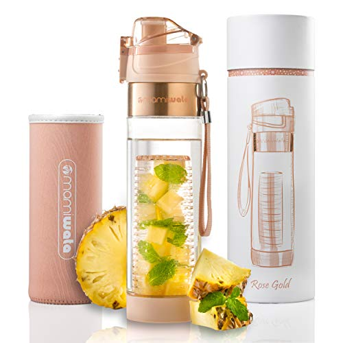 infusion water bottle glass - 4