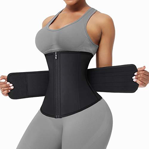 FeelinGirl Waist Trainers for Women Waist Trimmer Plus Size Slimming for Sports