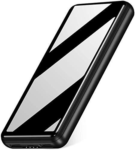 IEsafy Powerbank 26800mAh Caricabatterie Portatile con 2 Porte di Uscita USB Powerbank a Ricarica Rapida da 2,4 A, Adatto per Xiaomi, Samsung, Huawei e Altri Smartphone-Nero