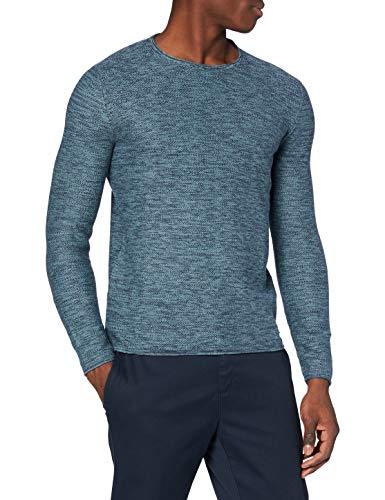edc by ESPRIT Herren 998CC2I800 Pullover, Blau (Turquoise 470), X-Large