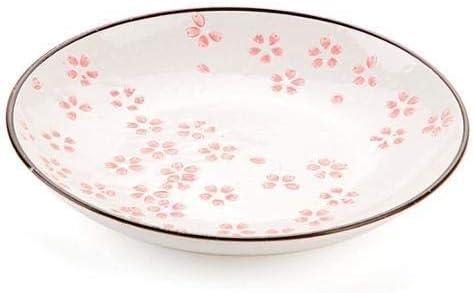 Latest item Sakura Pattern Ceramic Plate Dinner New item Fru Tableware Plates Kitchen