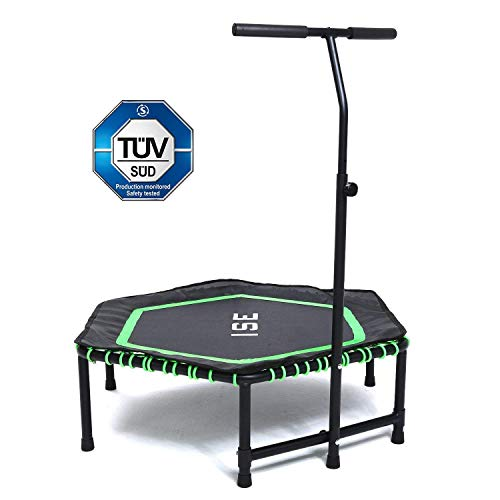ISE SY-1105 Trampoline de Fitness Adulte Unisexe, Vert, 994810
