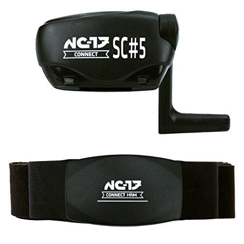 NC-17 HR 4/SC 4/SC 5 hartslagmeter + fietssensor, analyseert hartslag, snelheid, trapfrequentie, compatibel ANT+, Bluetooth 4.0, fietscomputer, iOS iPhone, Android, Windows Mobile 8.1