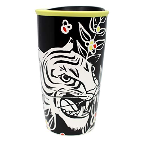 Starbucks Ceramic Travel Mug White Tiger