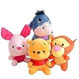 cgzlnl 4 Unids / Set 15Cm Juguete De Peluche De Dibujos Animados, Tigre Winnie The Pooh Bear Anime...