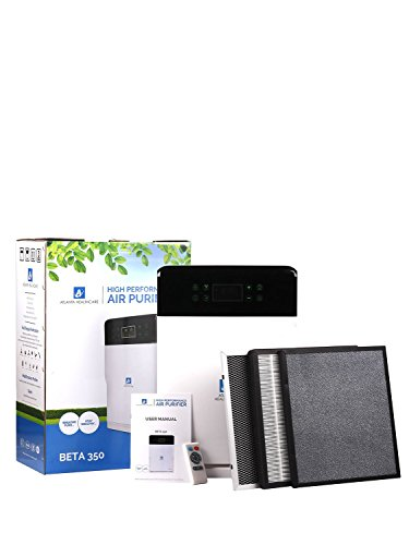 Atlanta Healthcare Beta 350 43-Watt Air Purifier with HEPA PURE & VIRAL GUARD Technology (White) - with Remote Control