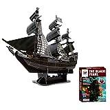 Ye Wang Rompecabezas 3D para Adultos y niños The Black Pearl Rompecabezas Tridimensional Juegos Educativos Hechizo Plug Space Toys Caribbean Pirate Ship Decoración del hogar