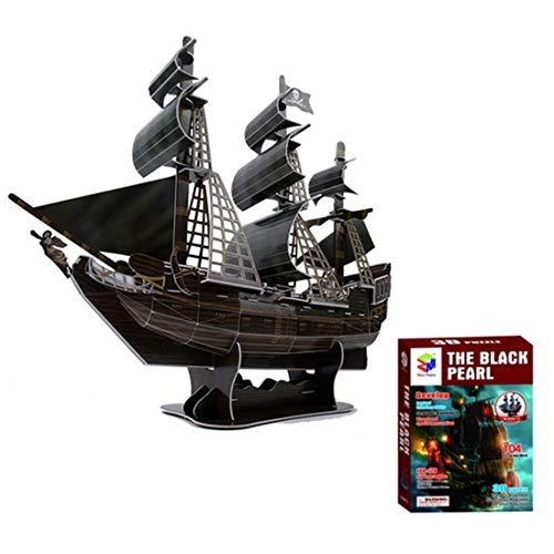 RDW 3D Juegos De Puzzles para Adultos Y Niños EL Negro DE LA Perla Puzzles Juegos Educación Hechizo Plug Espacio Juguetes del Caribe del Barco Pirata Decoración del Hogar