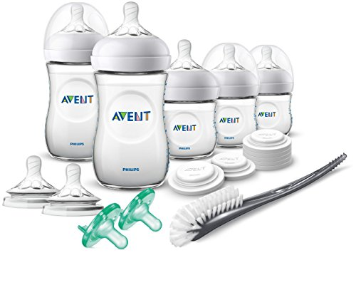 Philips Avent Natural Baby Bottle Newborn Starter Gift Set, SCD206/03