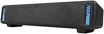 Phission USB Powered Sound Bar Dual Speakers with LED Light