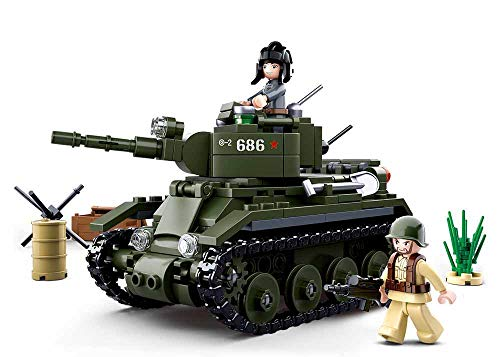 Sluban M38-B0686 WWII-BT-7 Cavalry Tank 347PCS, Multi Color