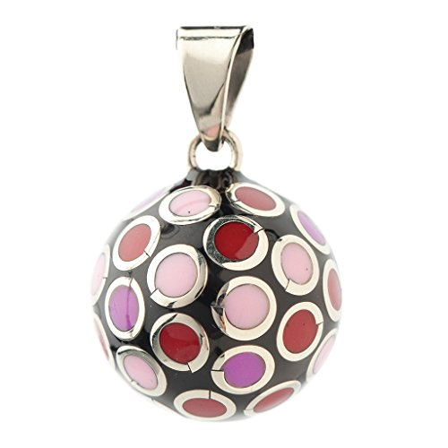 Bola BOLAVO101 - Colgante de bola para embarazada, color rojo y rosa